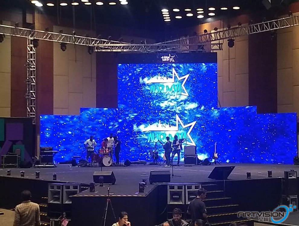 P4 indoor SMD led stage led sign 56sqm
